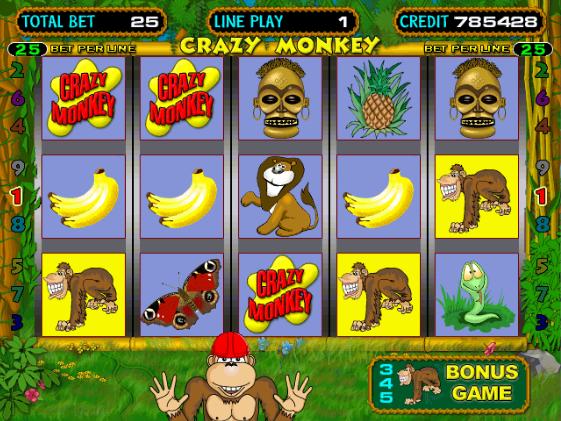 Обезьянки) игровой автомат Крейзи Манки играть бесплатно онлайн